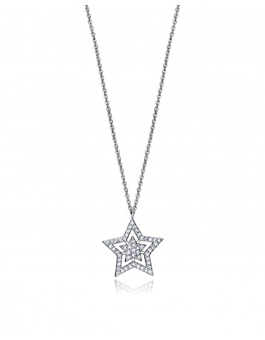 Collar Viceroy mujer de plata con colgante forma de estrella doble