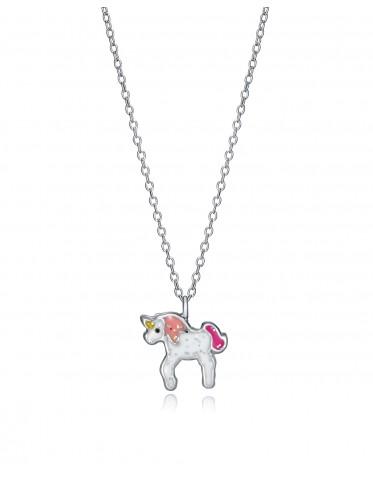 Collar Viceroy niña de plata con colgante de unicornio