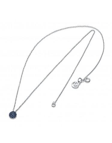 Collar Viceroy mujer de plata con colgante redondo circonitas azules