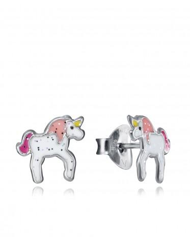 Pendientes Viceroy niña de plata con un unicornio