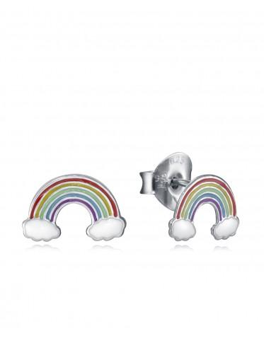 Pendientes Viceroy niña de plata con arco iris