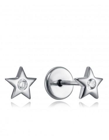 Pendientes Viceroy bebé de plata estrella con circonita