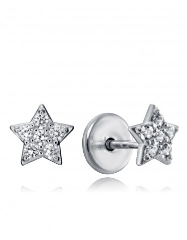 Pendientes Viceroy bebé de plata de estrellas con circonitas