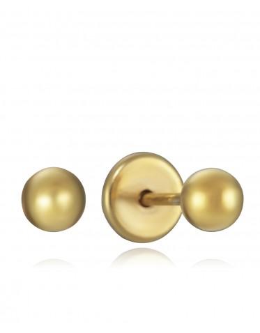 Pendientes Viceroy bebé de plata chapada oro de bolas lisas