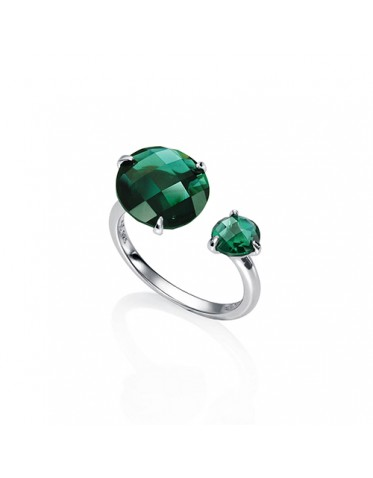 Anillo Viceroy mujer de plata con piedras verdes