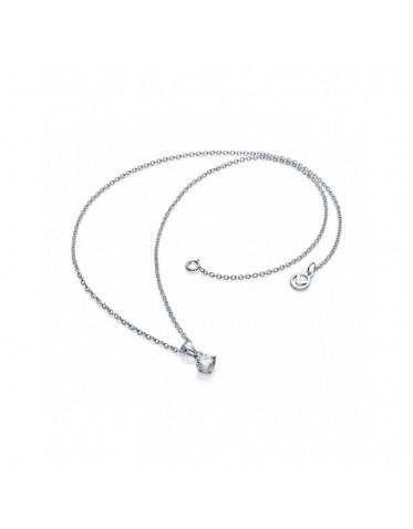 Collar Viceroy mujer de plata con colgante circonita redonda
